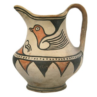 San Ildefonso Pitcher with Bird Design, circa 1900-10