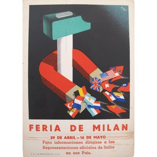 Feria de Milan Italian Original Advertising Carton