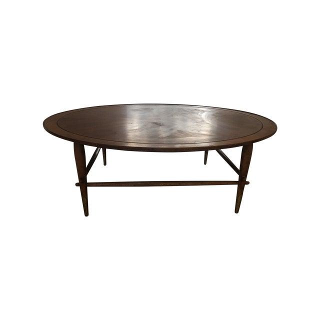 Lane Furniture Wood Coffee Table: Vintage Lane Furniture 1955 Round Coffee Table