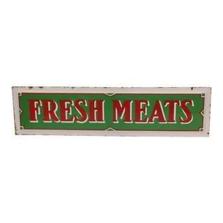 Enamel Fresh Meats Sign