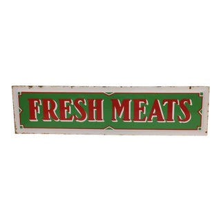 Enamel Fresh Meats Sign
