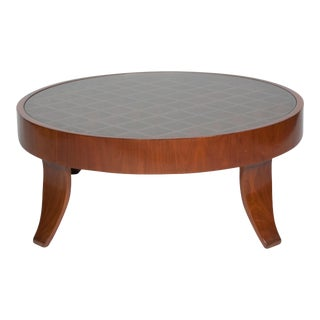 Olivewood Coffee Table attributed to Gio Ponti