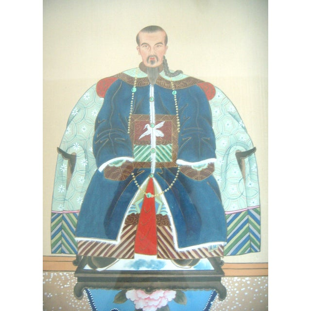 Fine Chinese Ancestor Portrait Paintings - Pair - Image 2 of 9