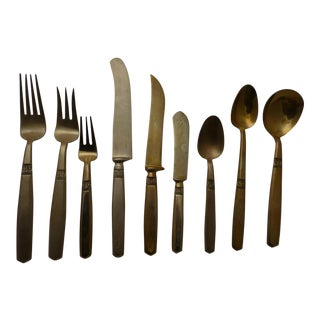 Mid-Century Modern Flatware Service for 12