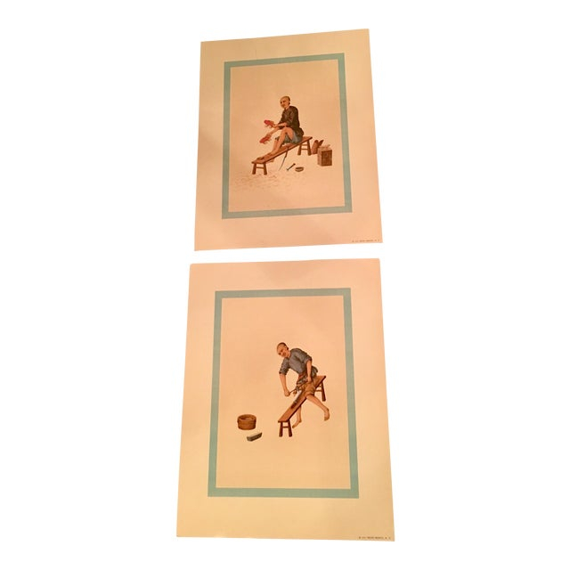 1957 Mid-Century Penn Prints - A Pair - Image 1 of 5