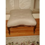 Image of French 1850s Upholstered Walnut Stool