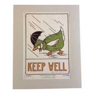 "Vintage 1930's Classroom Poster ""Keep Well"" by Elise Reid Boylston"