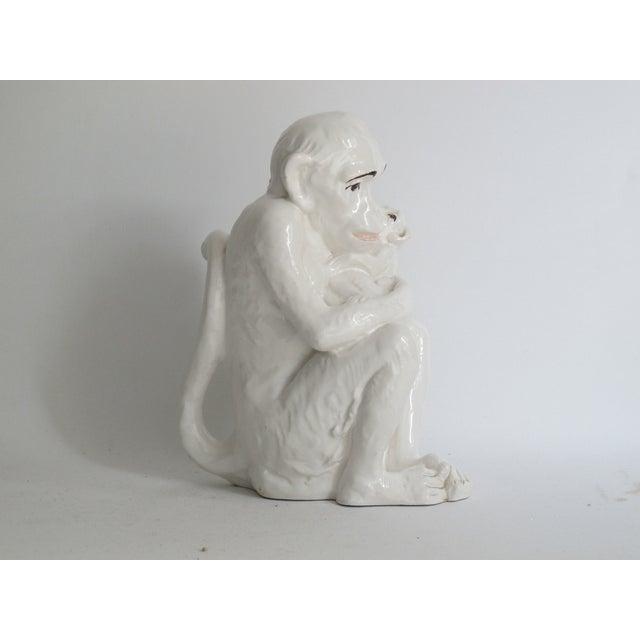 Italian Ceramic Monkey with Baby - Image 7 of 8