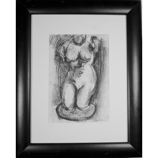 Hellenistic Statue Charcoal Drawing