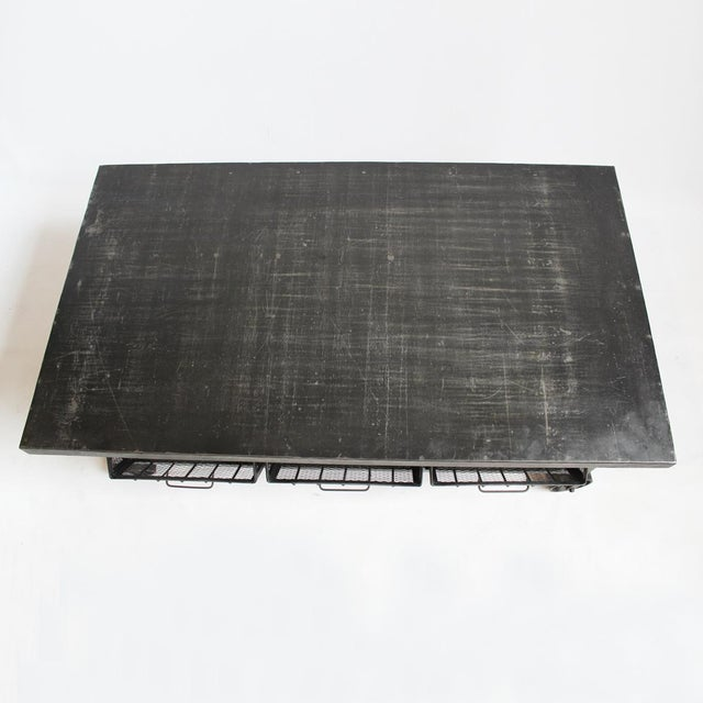 Industrial Iron Cart Coffee Table - Image 2 of 4