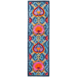 "Suzani Hand Knotted Runner - 3'1"" X 10'9"""