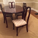 Image of Dining Set with Table and 4 Custom Chairs