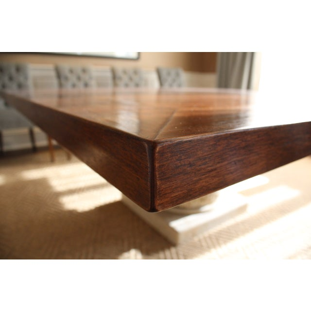 Custom Made Walnut Dining Table - Image 7 of 8