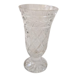 Beautiful Mid Century Cut Glass Elegant Vase