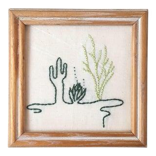Saguaro, Agave & Ocotillo Line Art Embroidery