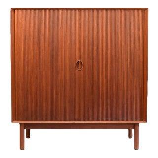 Hvidt and Mølgaard Teak Tambour Door Cabinet No. 301