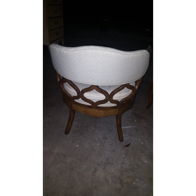 Vintage Barrel Back Chairs - Pair - Image 5 of 8
