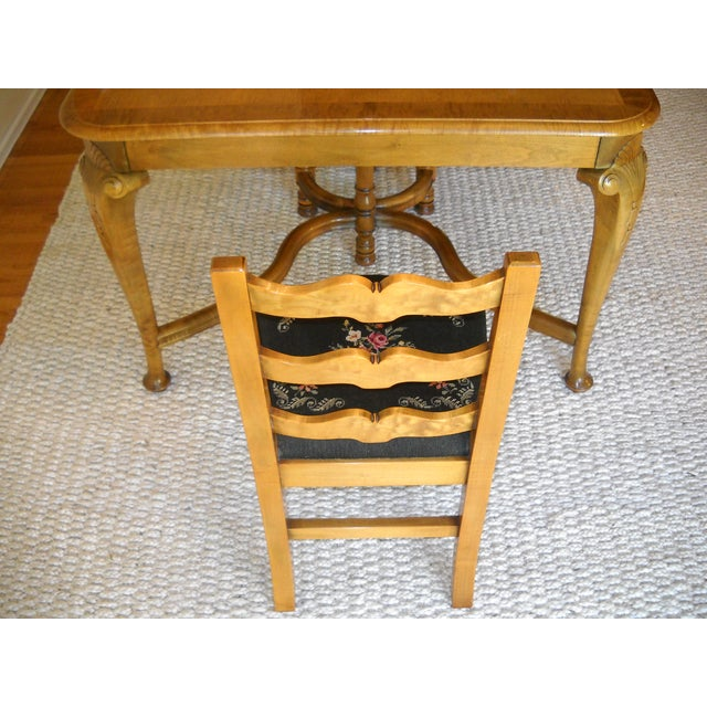 French Provincial Solid Oregon Maple Dining Set - Image 10 of 11
