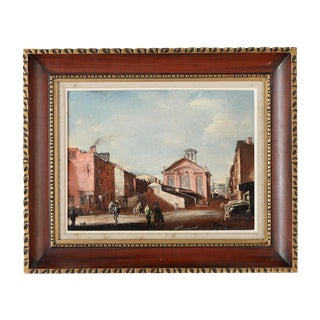 French Impressionist Street Scene Oil Painting