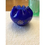Image of Vintage Fenton Art Glass Hand Painted Vases - A Pair