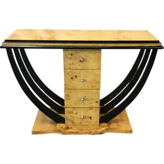 Art Deco Console Table With Drawers