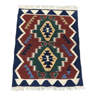 Vintage Turkish Denizli Kilim Rug - 2'4'' x 2'11''