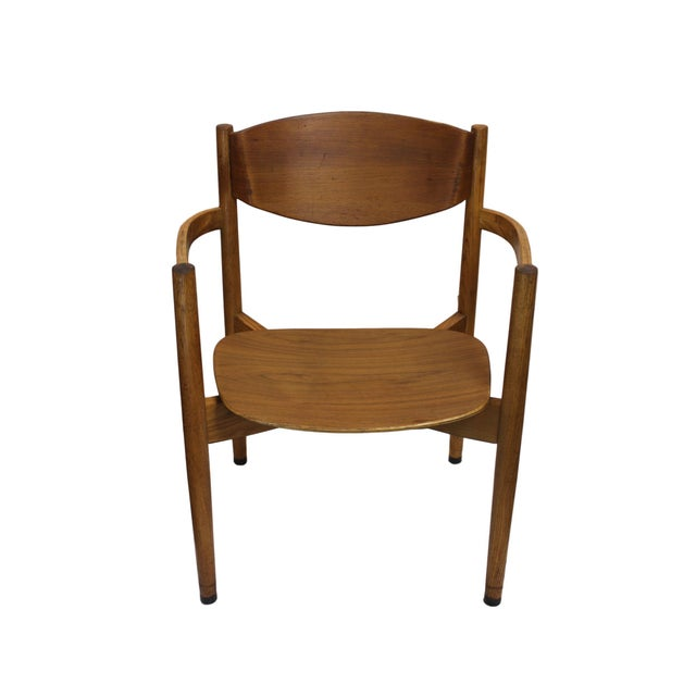 Image of Vintage Jens Risom Stacking Chairs - Set of 6