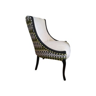 Ivory & Black Accent Chair