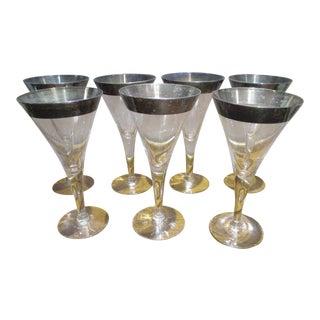 Dorothy Thorpe Silver Rim Glasses - Set of 7