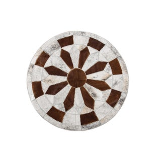 """Aydin Cowhide Patchwork Rug - 6'7"""" x 6'7"""""""