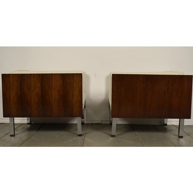 Image of Milo Baughman Era Cube Lounge Chairs - Pair