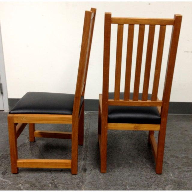 Custom Designed Teak Chairs - A Pair - Image 7 of 7