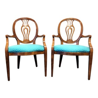 Henredon Natchez Collection Mahogany Dining Chairs- A Pair