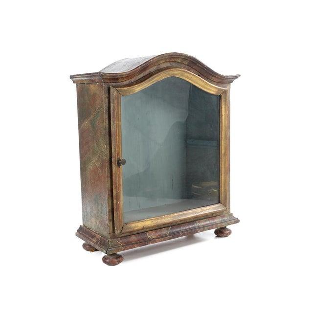 Image of Antique 19th C. Italian Giltwood & Glass Vitrine