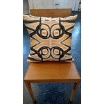 Image of Yellow Abstract Pillow by Amanda Talley