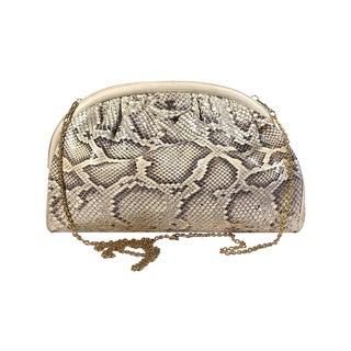 Rare Vintage CHANEL Python Snake Handbag Clutch