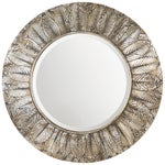 Image of Round Silver Gilt Wood Mirror