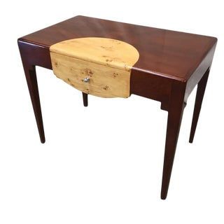 Art Deco Art Moderne Two Tone Desk With Drawer