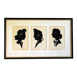 1940s Paper Cut Silhouette Portraits