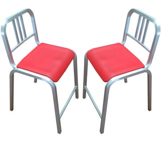 Emeco 1951 Aluminum Counter Stools - A Pair