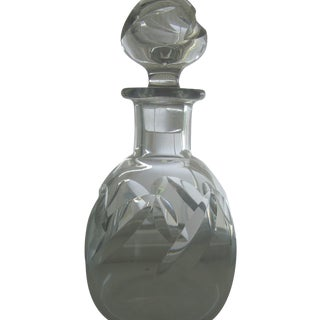 Baccarat Crystal Beauchene Covered Decanter