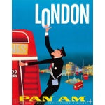 Image of Vintage Reproduction Blue London Travel Poster