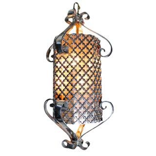 1960's Regency Polished Aluminium Lamp