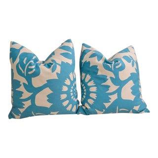 Thomas Paul Aqua Pillows - A Pair