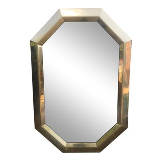 Octagonal Brass Frame Mirror