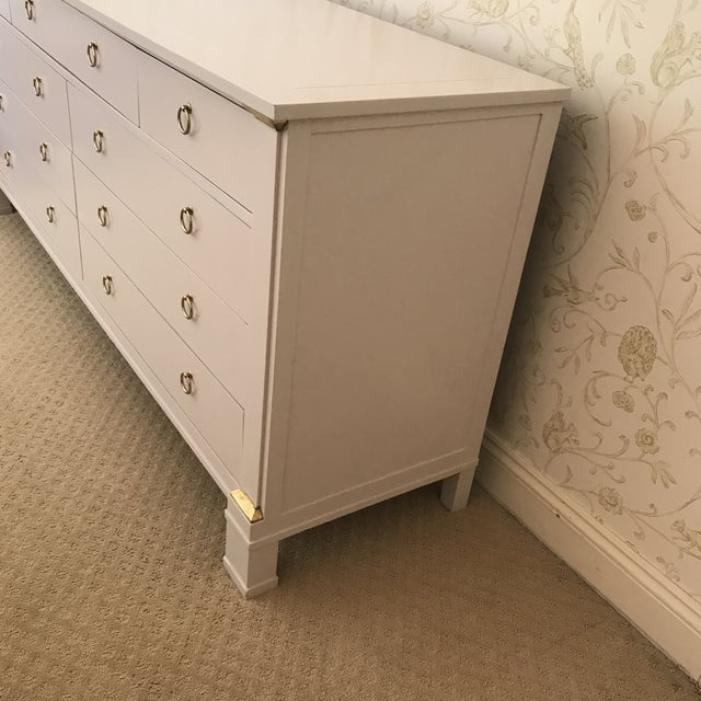 Vintage Baker Dresser With Brass Accents - Image 5 of 10