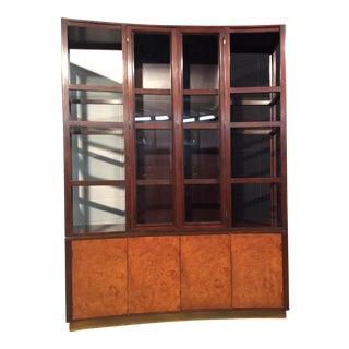 Mahogany & Burl Display Cabinet by Edward Wormley for Dunbar