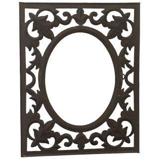 Vintage Wrought Iron Wall Mirror