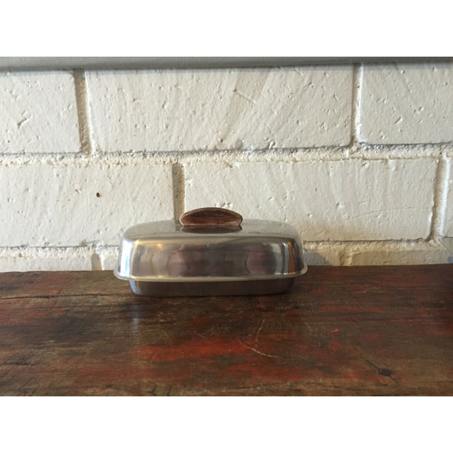 Danish Modern Stainless Butter Dish & Tray - Image 6 of 8