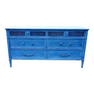 1982 Henredon Blue Dresser Cabinet